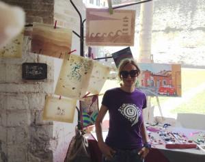 Cristina di Getto Design che mi ha fatto l'inboccaallupo regalandomi la T-Shirt