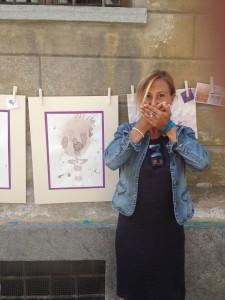Non parlo - Wine on Paper by Purpleryta