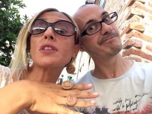 Pupleryta sempre più Icon con Angelò le Brontolò prima del concerto di Elisa