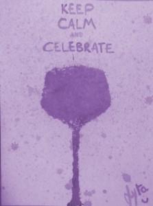Keep calm and celebrate