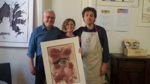 """Giovanni e il suo """"Occhio"""" di riguardo per l'arte """"wine on paper"""" di Purpleryta"""